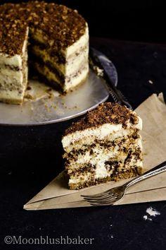 Hazelnut tiramisu cake