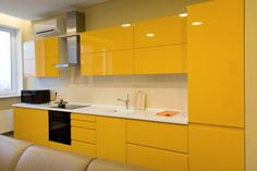 What You Should Do About Modern Yellow Kitchen Cabinets Starting in the Next. - What You Should Do About Modern Yellow Kitchen Cabinets Starting in the Next Seven Minutes – - Kitchen Room Design, Luxury Kitchen Design, Kitchen Cabinet Design, Home Decor Kitchen, Interior Design Kitchen, Home Kitchens, Kitchen Ideas, Yellow Kitchen Cabinets, Kitchen Cabinets Color Combination