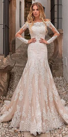 ee46ddc8aefa Tulle Off-the-shoulder Neckline Wedding Dress, Bride Dress With Lace  Appliques ,Long Sleeve Weeding Dress