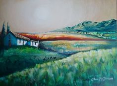 Large Original Landscape Painting by SA Artist, Cherie Roe Dirksen - FREE COURIER AND FREE GIFT! Original Paintings, Original Art, South African Artists, All Art, Art For Sale, Landscape Paintings, Saatchi Art, Canvas Art, Countryside Landscape