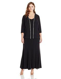 Alex Evenings Women's Plus-Measurement three/4 Beaded Trim Sleeve Jacket Costume
