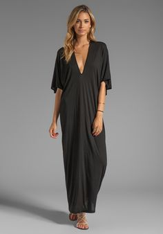 RILLER & FOUNT Robyn Caftan Maxi in Black - New