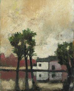 Hoeve aan het water, Toon Hermans. Dutch (1916 - 2000)