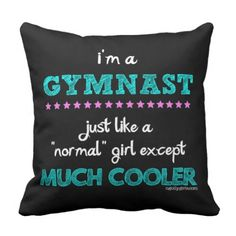 Golly Women - I'm a Gymnast Throw Pillow. >> Find out even more at the photo link