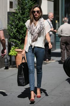 Miranda Kerr: De paseo por las calles de Nueva York. Junio de 2012.