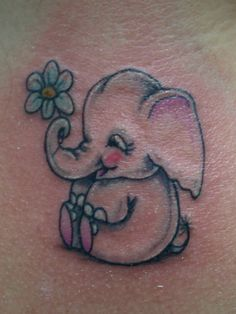 Little elephant tattoo idea