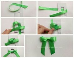 How to properly make a bow. Christmas Crafts For Kids, Christmas Cards, Sewing Crafts, Diy Crafts, Bow Tutorial, How To Make Bows, Scrapbook Cards, Couture, Kids Playing