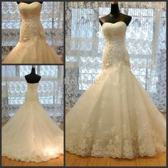 Wholesale 2014 Wedding Dresses - Buy Lace Fit And Flare Mermaid Wedding Dresses Fashion 2014, $188.0   DHgate