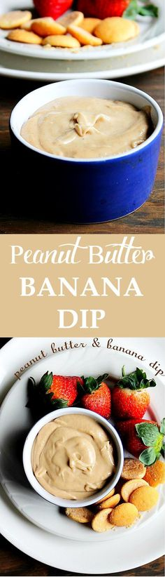Peanut Butter Banana Fruit Dip - a great after-school snack or party appetizer! Get the recipe at diethood.com