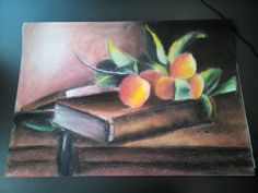 Book and peaches   by: Vânia Azevedo