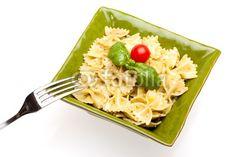 For stock photo buyers: Pasta - Farfalle With Pesto di eZeePics Studio, foto stock royalty free #49340785 su Fotolia.com