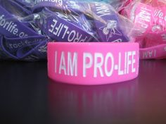 """""""I AM PRO-LIFE"""" Wristband - Pink"""