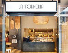 """Natural Divo by SCAB Design for """"La Forneria"""" , Barcelona Restaurant Design, Bakery Shop Design, Luxury Restaurant, Cafe Design, Cafe Restaurant, Design Design, Bakery Interior, Shop Interior Design, Retail Design"""