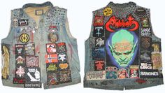 patch denim vest - Google-haku