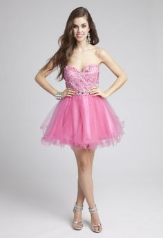 Prom Dresses 2013 - Beaded Lace Short Tulle Prom Dress from Camille La Vie and Group USA