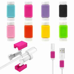 Find More Phone Bags & Cases Information about 10PCS Cable Protector Case For iPhone 6s 5 SE 6 5S 4 Charger Data Silicone Saver for Lightning 30 pin Ipod Apple Watch USB Cable,High Quality case audio,China case iphone 5 pink Suppliers, Cheap case polyurethane from Geek on Aliexpress.com