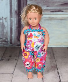 Look what I found on #zulily! Purple & Blue Violet Gabby Doll Romper #zulilyfinds JUST $8.99