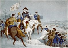 Lithograph by Currier & Ives, 1876 of George Washington crossing the Delaware River on December previous to the battle of Trenton. Washington, Crossing the Delaware. History Education, Us History, American History, American War, American Soldiers, Battle Of Trenton, Revolution Series, Continental Army, Sneak Attack