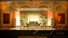 Best Pakistani Wedding Stages Design Ideas and Setup Designer in Lahore Pakistan.  For more: www.tulipsevent.com