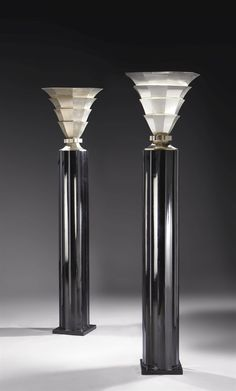 Matching Pair of Uplighters by Gérard Mille Paire, circa 1936