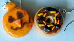 Halloween Donut Earrings  Miniature Food Jewelry  by SprinkleCake