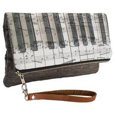 music piano keyboard clutch - individual customized designs custom gift ideas diy