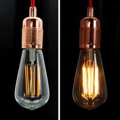NATIONALMATER ST64-8W LED Glühbirne, Vergolden LED Glühfaden Classic Edison Lampe, 550 Lumen Ersetzt 50 Watt Glühlampen, CRI>90, E27, warmweiß (2200 Kelvin), 230V AC, Nicht Dimmbar, 1er Pack: Amazon.de: Beleuchtung