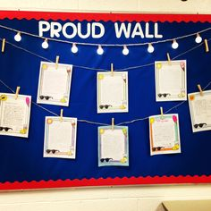 The Proud Wall for students' best work. I have advice letters from past 7th graders up to start the year out.