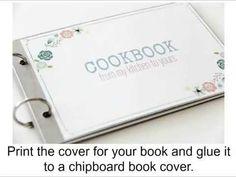 DIY Family Recipe Book   MyPrintly