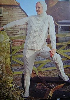 Instead of dresses, what about knitted pant suits? Come on you know this is a great idea!