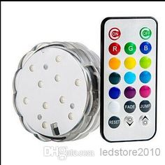 Remote Controlled Submersible Led Light for Decorations Battery Operated Remote Controlled Submersible Led Light, $4.4   DHgate.com