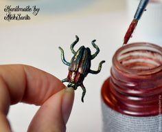 Мастер-класс: жук из запекаемой полимерной глины - Ярмарка Мастеров - ручная работа, handmade