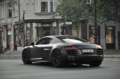 Matte Black Audi r8 V10 #car #supercar #audi