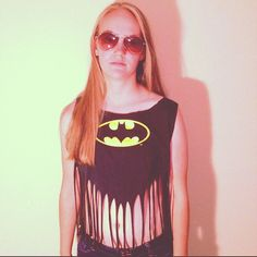 PLEASE ..! haha  Batgirl Fringed Crop Top by GKFringeAndStuds on Etsy, $15.99