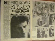 C. Thomas Howell, Tommy, Two Page Vintage Clipping