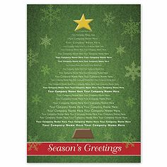Identity Tree Holiday Card 970HD31 | Christmas Tree Cards | Deluxe