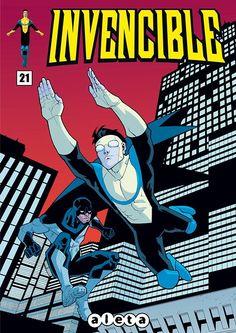 Portada del #Invencible Nº21 de Ryan Ottley. Edición española de Aleta Ediciones para la edición digital en #Koomic.