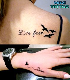 #livefree #lifereetattoo #tattoo #believetattoo