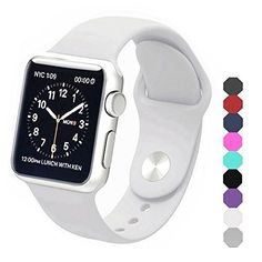 Apple Watch Band Soft Silicone Sports Replacement Wristband For Apple Watch White 38mm S M 38mms M Apple Apple Watch White Apple Watch Bands Apple Watch