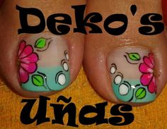Resultado de imagen para deko uñas para pies Pedicure Designs, Toe Nail Designs, Nail Tech School, Cute Pedicures, Paws And Claws, Pretty Nail Designs, Feet Nails, Toe Nail Art, Women's Feet