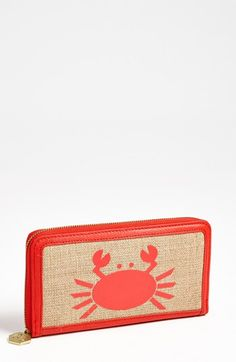 Want! It's ok to be a little crabby with this cute Jonathan Adler wallet!