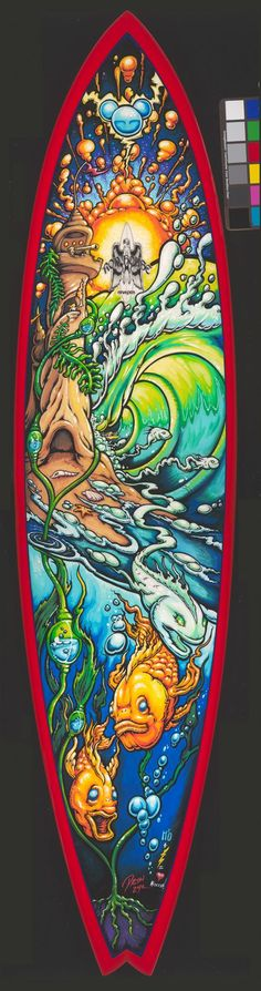 drew brophy painted Surfboards | It was a commissioned piece by Paul Sampedro, for the charity MiOcean ...