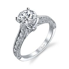 ENGAGEMENT RINGS :: 14K W RING 96RD 0.76CT -Yep, this is the one! :)