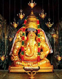 """Ganesha at """"Pillayar Patti"""" near Madurai, TN India"""