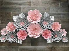 Conjunto rosa y gris de 14