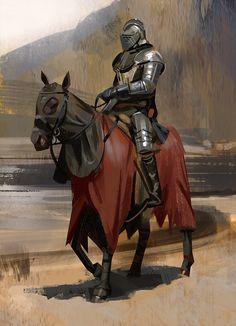 m Fighter Plate Armor Helm Horseback coastal hills farmland lake lg Medieval Knight, Medieval Armor, Medieval Fantasy, Fantasy Armor, Dark Fantasy, Fantasy Character Design, Character Art, Character Concept, Fantasy Inspiration