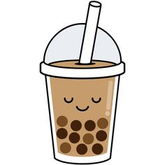 Boba Sticker by Kawaii Designs - White Background - Cute Food Drawings, Cute Kawaii Drawings, Kawaii Doodles, Kawaii Art, Tea Wallpaper, Cute Wallpaper Backgrounds, Aesthetic Iphone Wallpaper, Cute Wallpapers, Tumblr Stickers