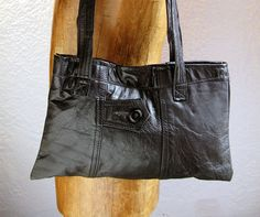 Upcycled leather purse
