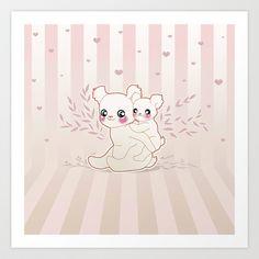 Kawaii Art Print by Lily Art - $25.00