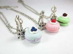 BFF Paris Macaron Necklace Friendship Necklace food jewelry food necklace on Etsy, Bff Necklaces, Best Friend Necklaces, Best Friend Jewelry, Cute Necklace, Etsy Jewelry, Cute Jewelry, Jewelry Stand, Dainty Jewelry, Jewelry Holder